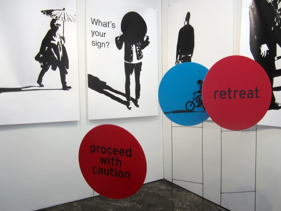 Artists Walking Home (2013), Installation view