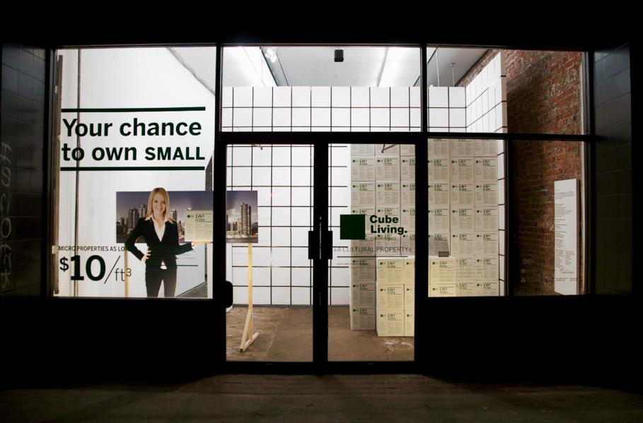 Alex Grünenfelder, 2013, Cube Living sales centre. Photo credit: Oliver Li.