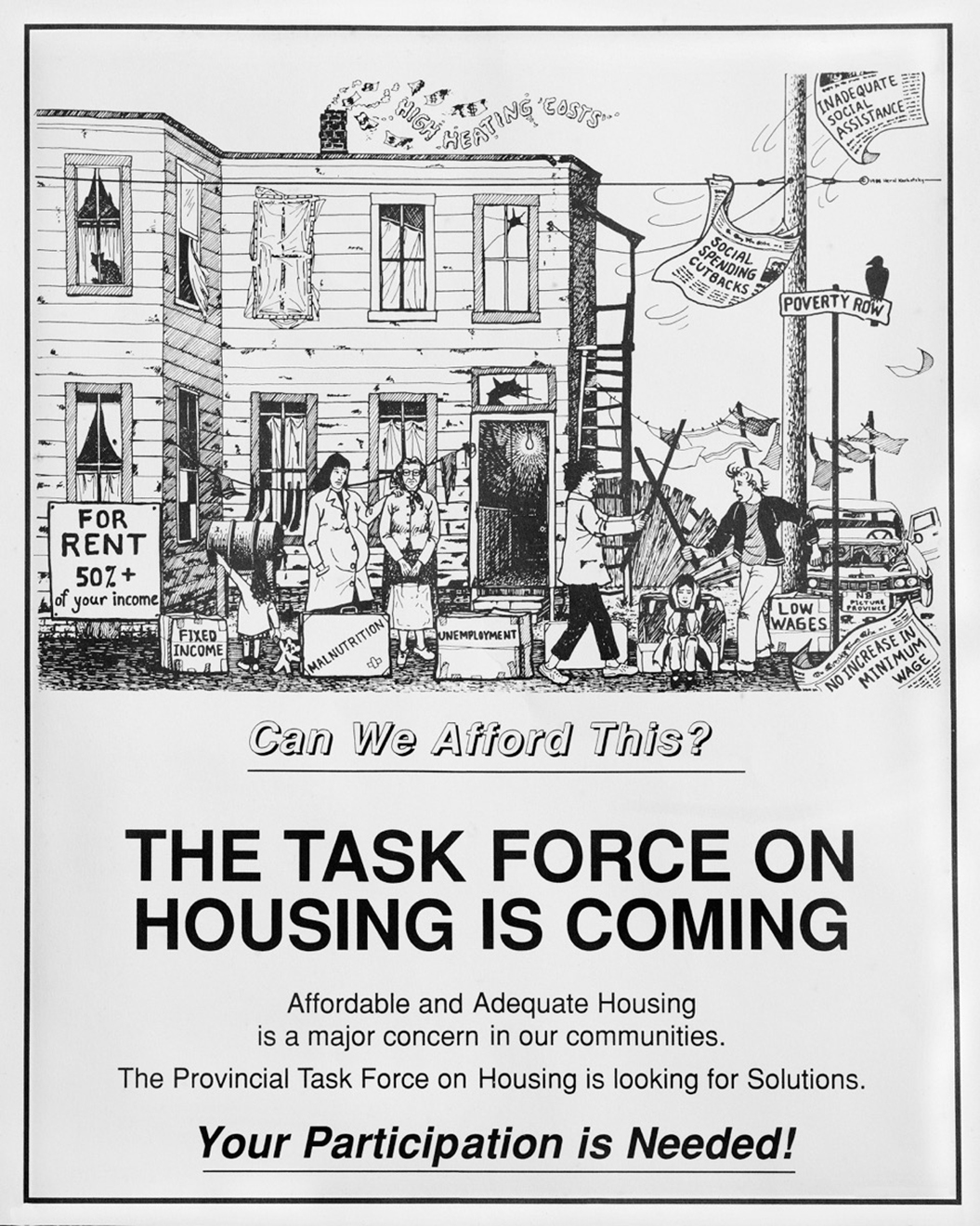Herzl Kashetsky's poster for Housing Alternatives, 1988. Courtesy the collection of Monica Chaperlin and Robert McKee
